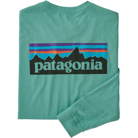 Patagonia P-6 Logo LS Responsibili Tee Men light beryl green